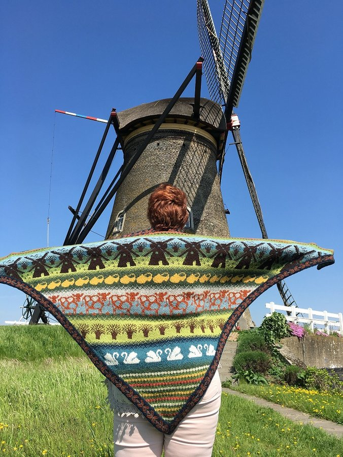 Kinderdijk-shawl