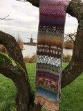 Heideshawl knitting kit white sheep_