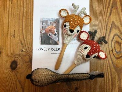 "Haakpakket samba hertje ""Lovely deer"" inclusief sambabal"