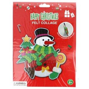 Viltpakket voor kinderen sneeuwpop