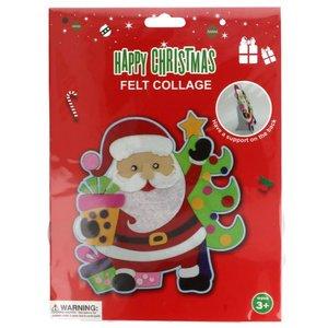 Viltpakket kerstman voor kinderen
