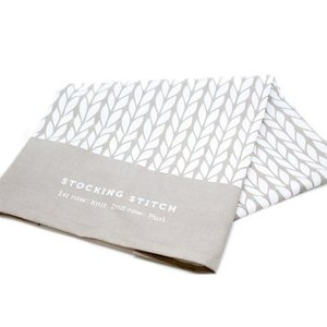 Debbie Bliss Grey Stocking Stitch theedoek