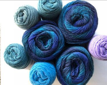 Breipakket AYYA handmade Knit Along blauw